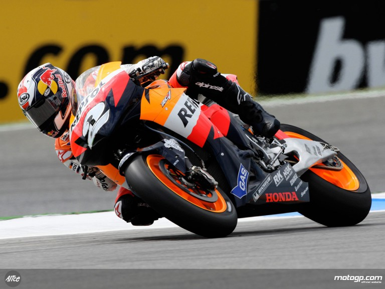 Dani Pedrosa in action in Estoril (MotoGP)