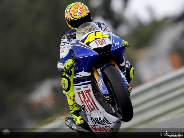 Valentino Rossi in action in Estoril (MotoGP)