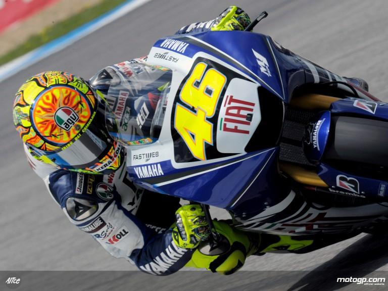 Valentino Rossi in action in Estoril (MotoGP)