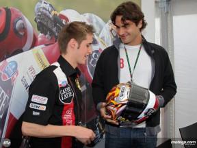 Federer visits Luthi garage