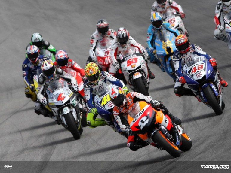 MotoGP action group in Estoril