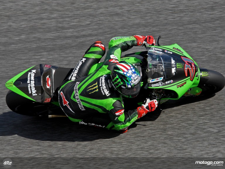John Hopkins in action in Estoril (MotoGP)