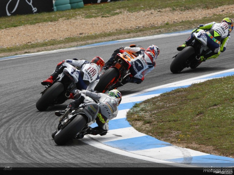 MotoGP group in action in Estoril