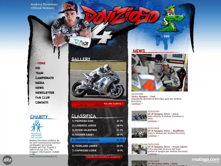 Andrea Dovizioso´s new website