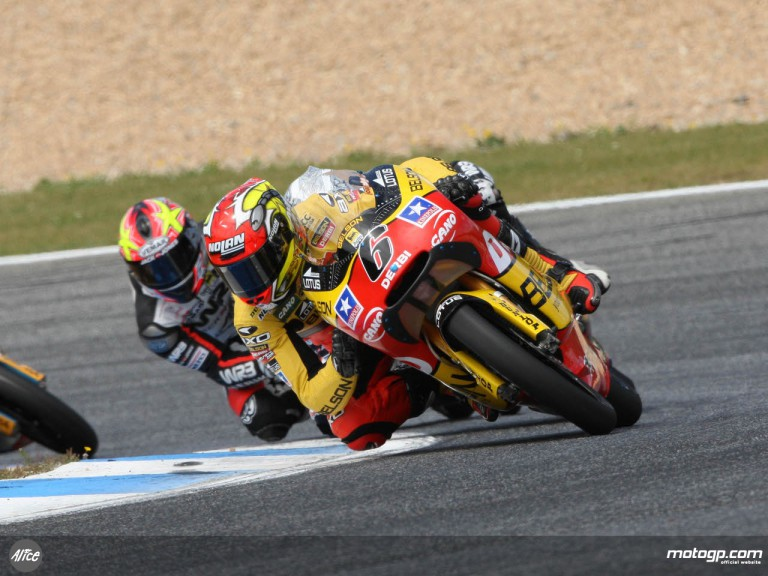 Joan Olivé on his way to another podium finish at Estoril