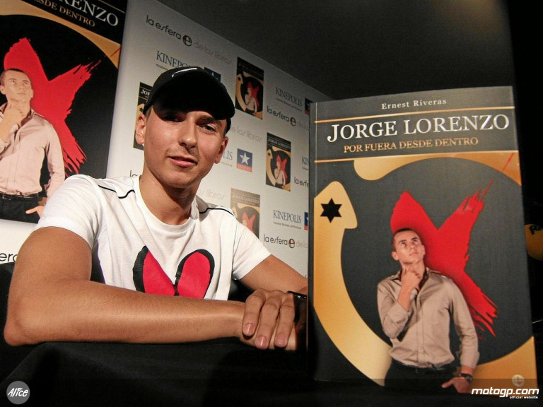 Jorge Lorenzo presents his biography