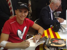 Jorge Lorenzo book signing in Barcelona