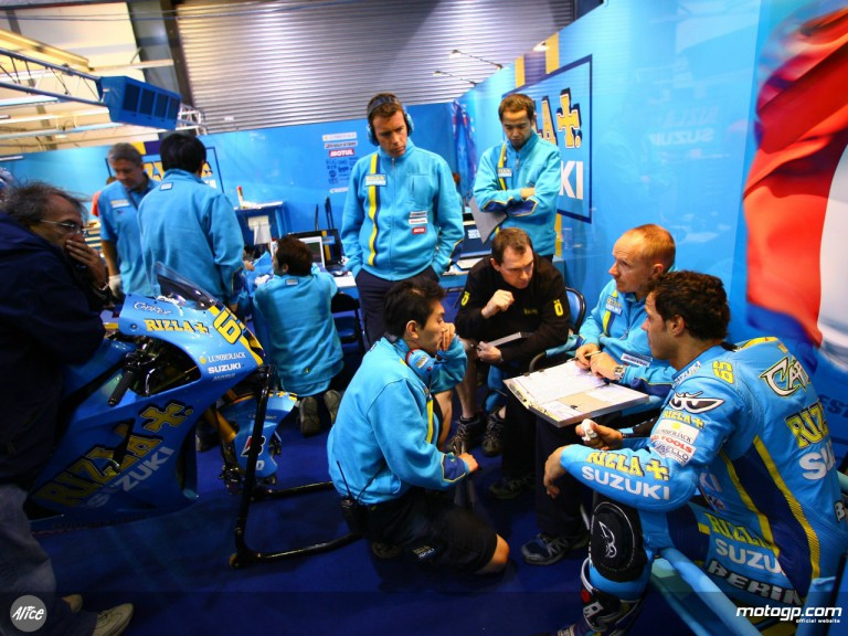 Inside the Rizla Suzuki garage