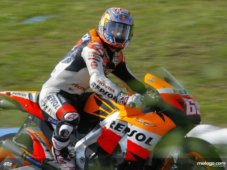 Nicky Hayden on track in Portugal