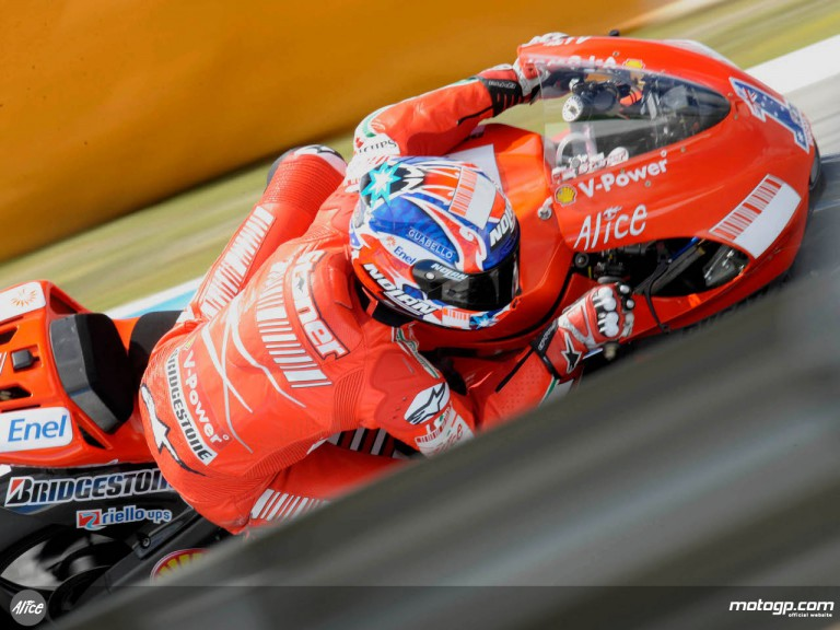 Reigning World Champion Casey Stoner at Estoril