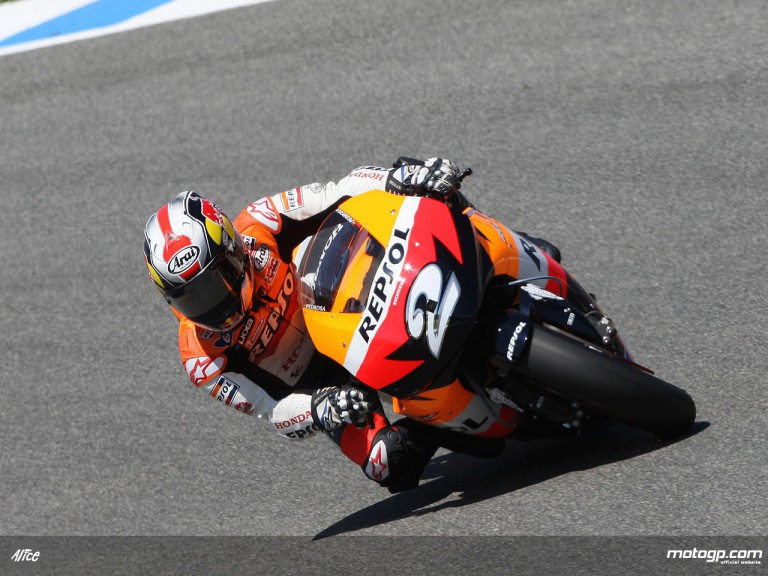 Dani Pedrosa in action in Jerez (MotoGP)