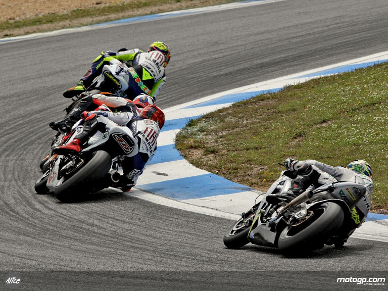 Group MotoGP in action in Estoril