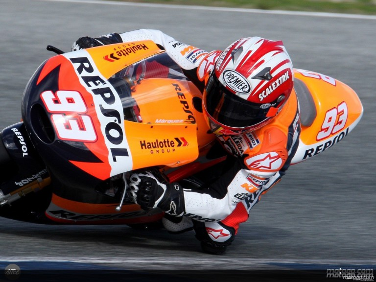 Marquez in action