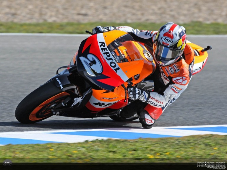 Pedrosa in action