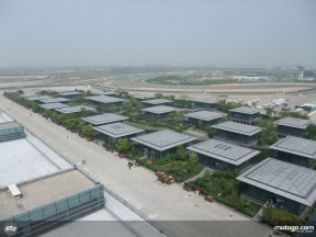 The paddock of the Shanghai International Circuit