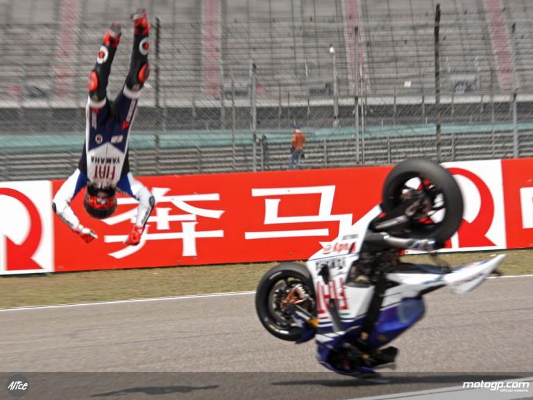 Lorenzo crash stills