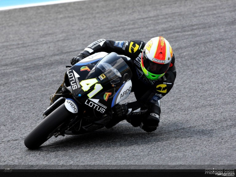 Espargaro in action