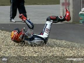 Lorenzo crash in FP1