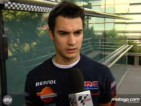 Pedrosa reviews day one