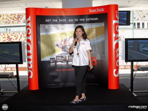 Tanya Chuang from Sandisk at the Shanghai International Circuit