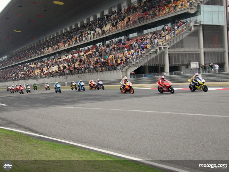 MotoGP Group in action in Shanghai