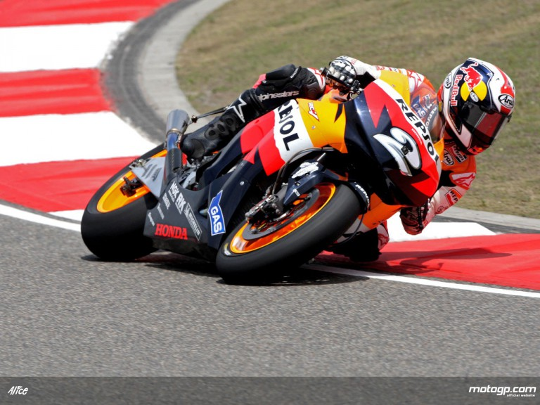 Dani Pedrosa in action in Shanghai (MotoGP)