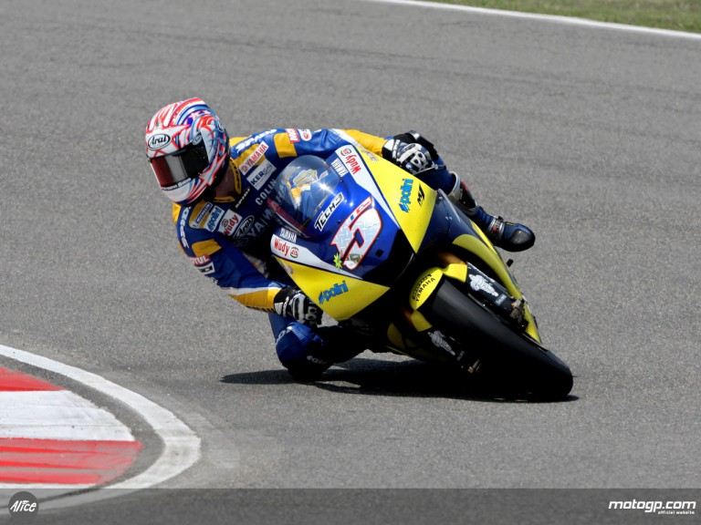 Colin Edwards in action in Shanghai (MotoGP)