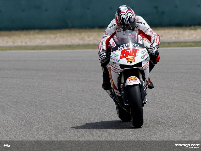 Shinya Nakano in action in Shanghai (MotoGP)