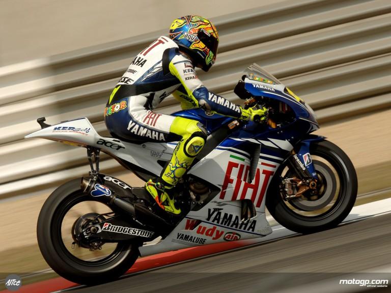 Valentino Rossi in action in Shanghai (MotoGP)