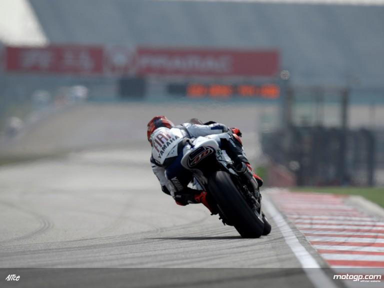 Jorge Lorenzo on track at Shanghai