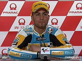 Mattia Pasini interview after race in China