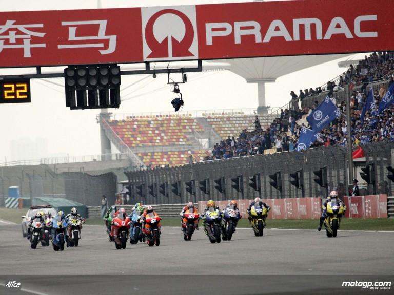 Group MotoGP in action in Shanghai