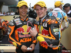 Red Bull KTM riders Mika Kallio and Hiroshi Aoyama celebrates brilliant 1-2 in Shanghai race