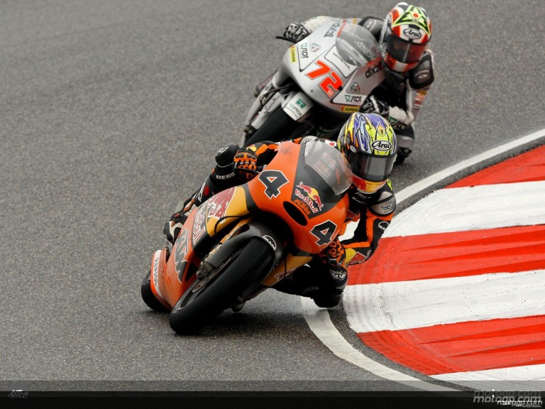 Aoyama and Takahashi in action in Shanghai (250cc)