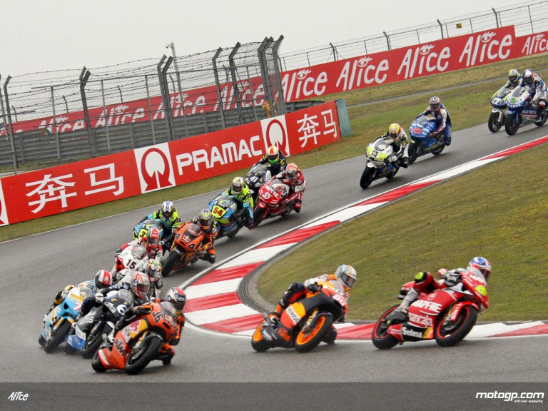 250cc Group in action in Shanghai