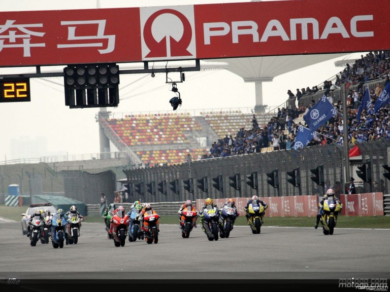 Group MotoGP in action in Shanghai