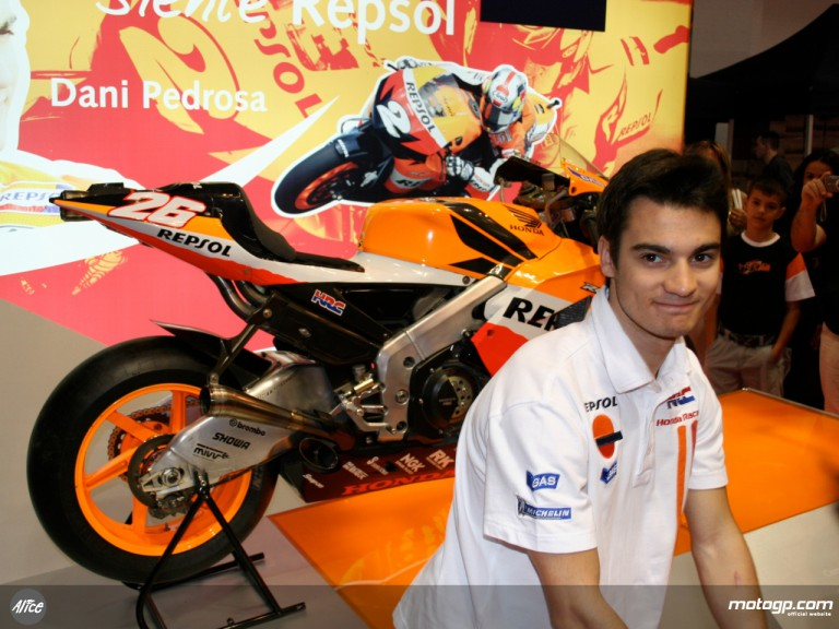 Dani Pedrosa at the MotOh! Motorshow in Barcelona