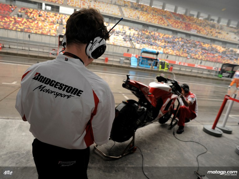 Bridgestone tyre engineer at Shanghai
