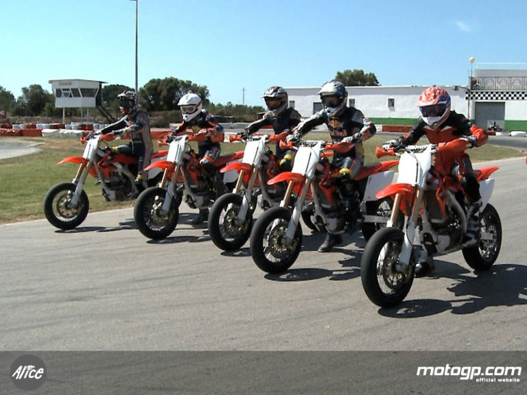 Academy vary trainig with supermotard rides