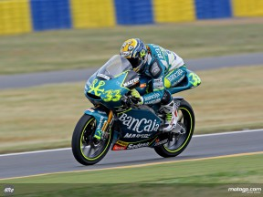 Sergio Gadea in action in Le Mans (125cc)