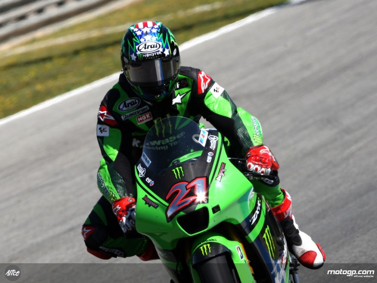 John Hopkins in action (MotoGP)