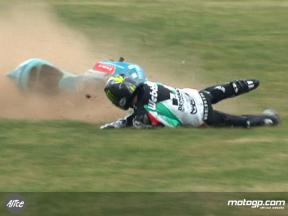 Danny Webb crash in France QP1