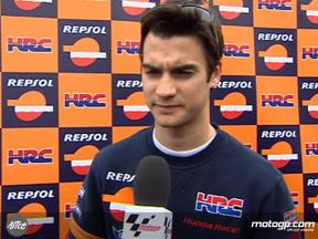Pedrosa content with early pace