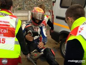 Unseen footage of Jorge Lorenzo crash at le Mans in FP3