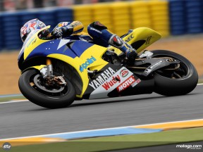 Colin Edwards in action in Le Mans (MotoGP)