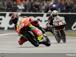 Mike Di Meglio in action in Le Mans (125cc)