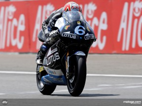Alex Debon in action in Le Mans (250cc)