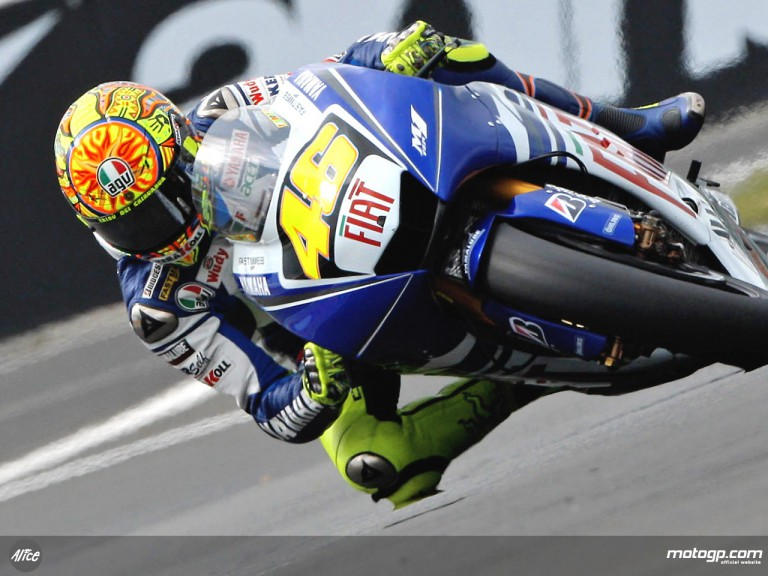 Valentino Rossi in action in Le Mans