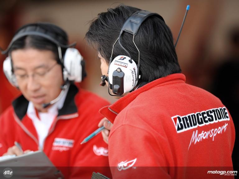 Bridgestone MotoGP technicians
