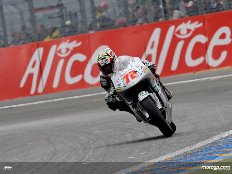 Yuki Takahashi in action in Le Mans (125cc)